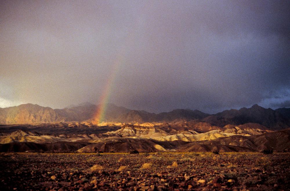 Death Valley rainbow
