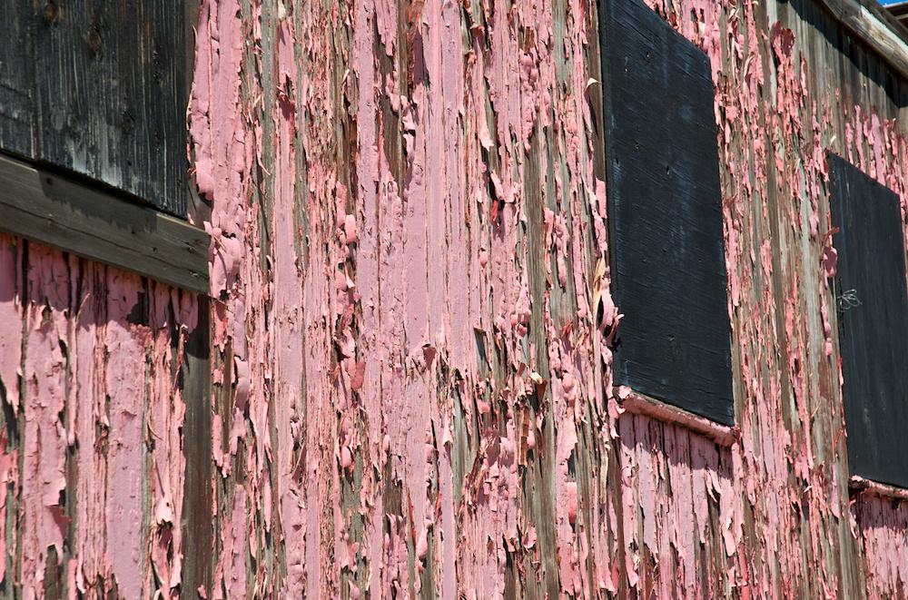 Peeling pink
