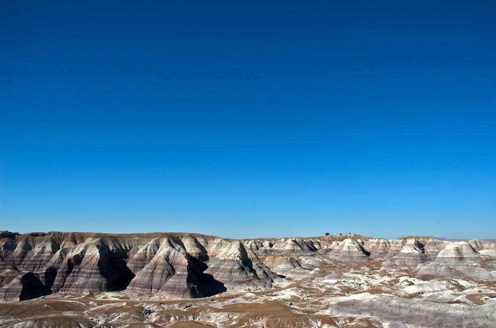 Blue sky mesas