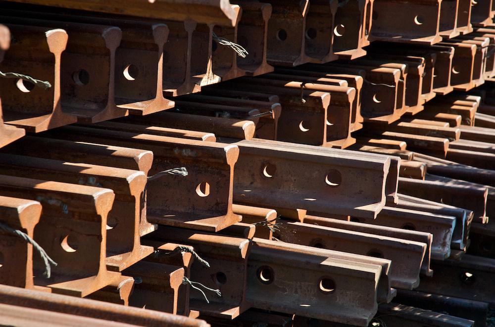 Stacks of rails