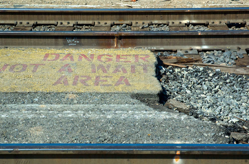Danger not a wait area