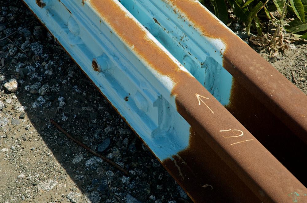 Painted rails