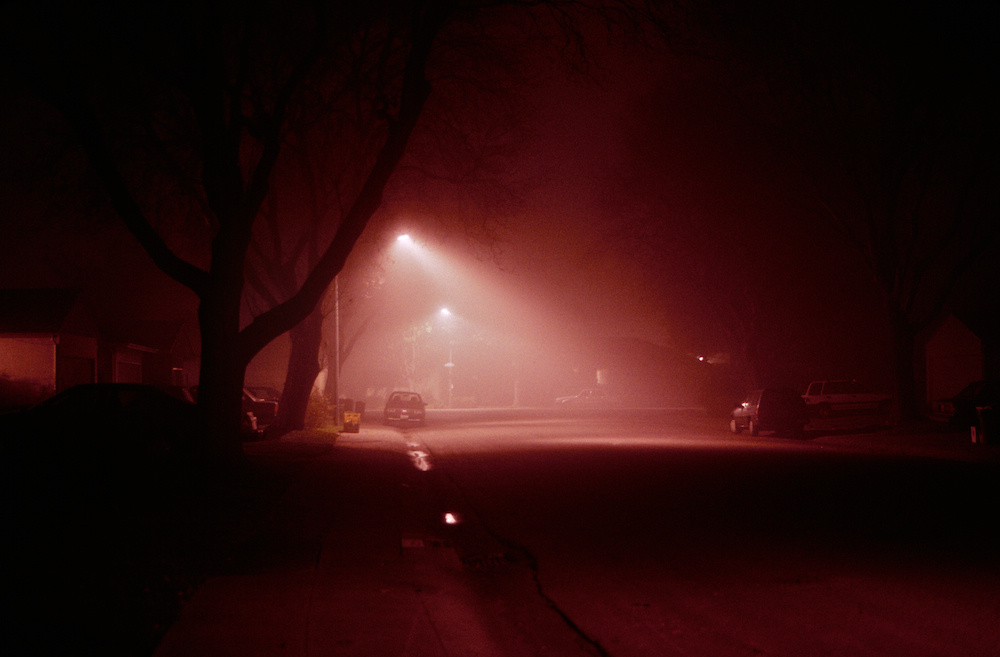 A foggy night in Palo Alto