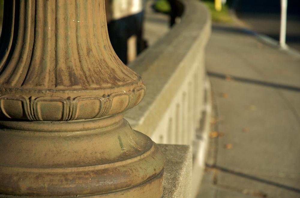 Lampost and railing