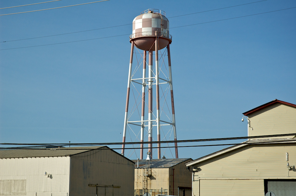 Faded water tower