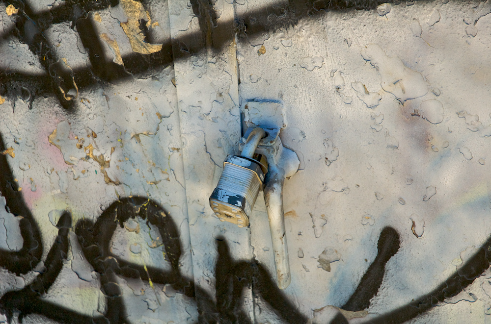 Padlock and paint