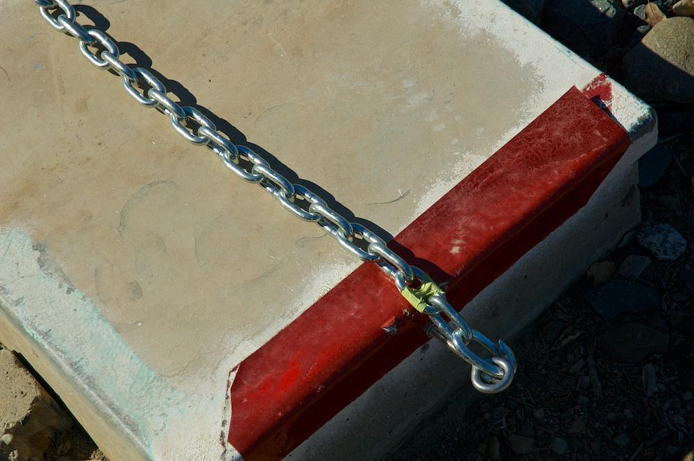 Chained shut