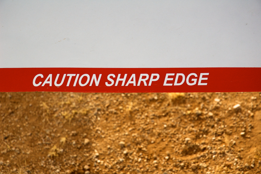 Caution sharp edge