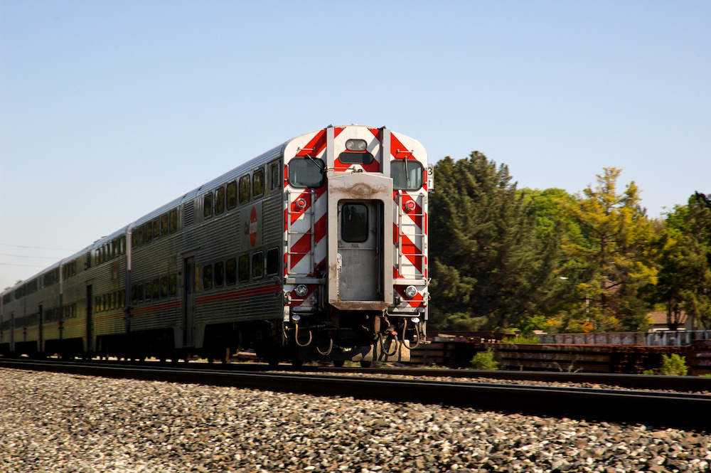 North end of a southbound train