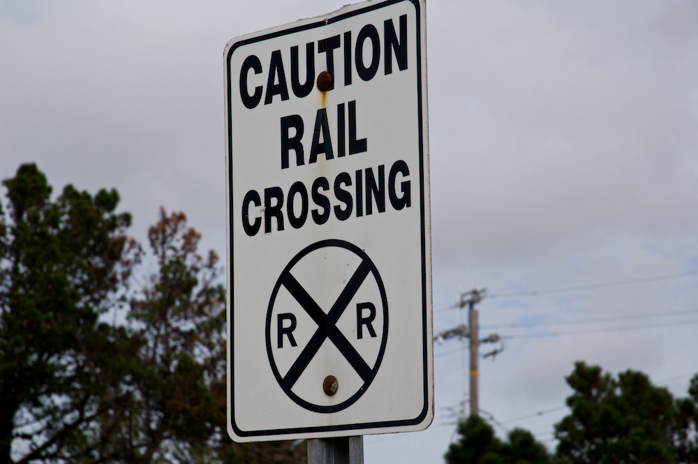 Caution Rail Crossing